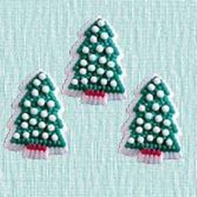 Petite Christmas Tree Icing Decorations