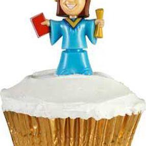 Female Graduation Bobbling Cupcake Topper