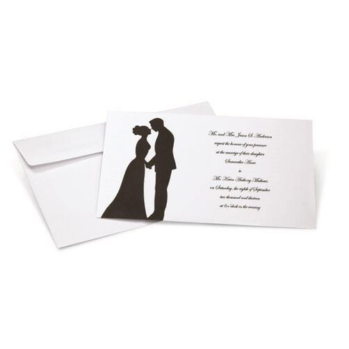 Silhouette Couple Invitation Kit