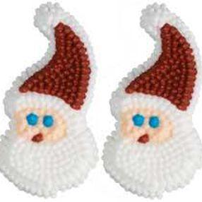 Santa Icing Decorations