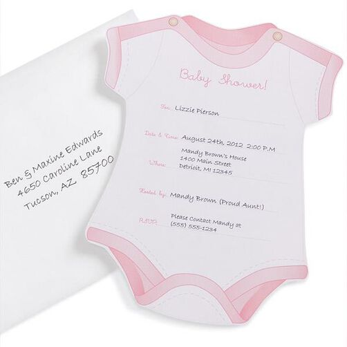 Girl Fill In Baby Shower Invitations