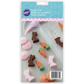 Easter Mini Bunny and Carrot Candy Mold