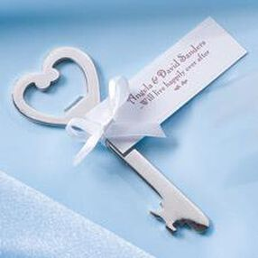 Key Shaped Bottle Opener Favor Kit