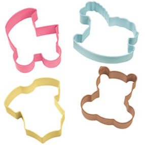 4-Piece Baby Theme Cookie Cutter Set