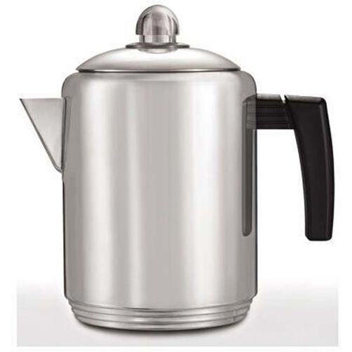 Copco 4- to 8-Cup Polished Stainless Steel Stovetop Percolator, 1.5 Quart