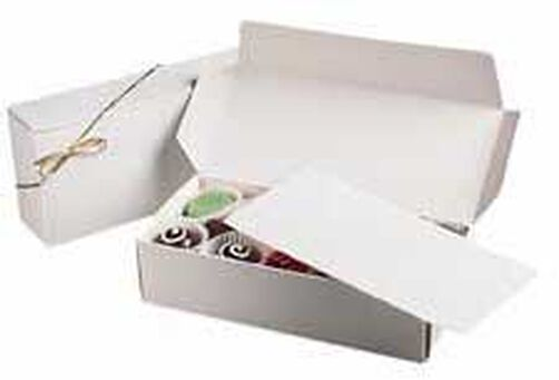 1/2 lb. White Candy Boxes