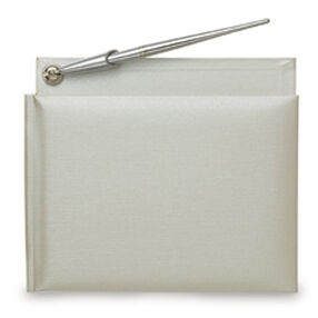Silver Guest Book & Pen Set