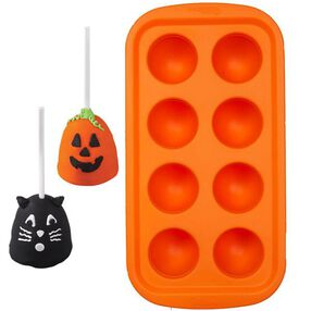 Halloween 8-Cavity Silcone Brownie Pop Pan