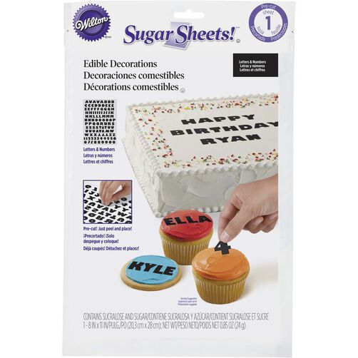 Sugar Sheets! Alphabet Edible Decorating Paper