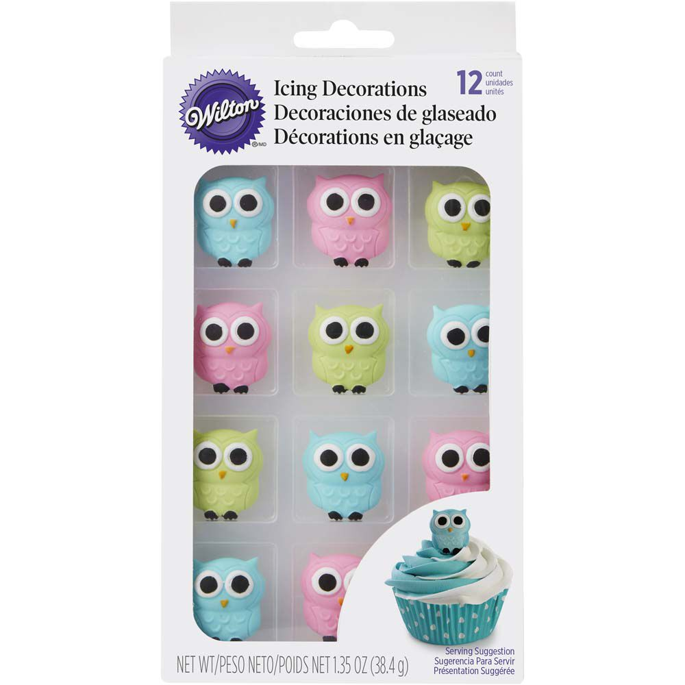 Edible Owl Cake Decorations