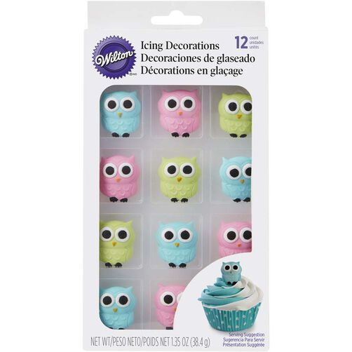 Wilton Owl Edible Icing Decorations