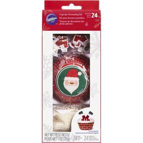 Santa Claus Cupcake Decorating Kit