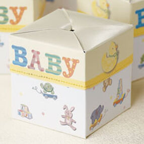 Baby ABC Blocks Pop Up Favor Boxes