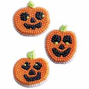 Pumpkin Face Icing Decorations