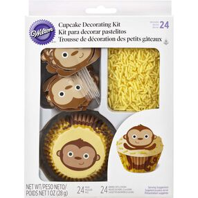 Monkey Cupcake Decorating Kit
