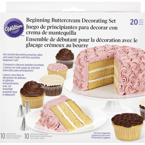 Michaels Cake Decorating Equipment : 20 Piece Beginning Buttercream Decorating Set Wilton