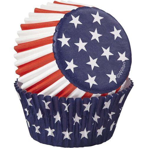 Red, White & Blue Standard Baking Cups