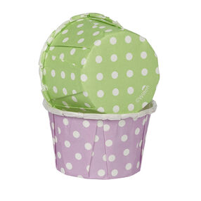 Wilton 24-Count Polka Dot Party Cups in Green and Purple