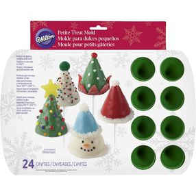 Wilton Christmas Cone Silicone Mini Treat Mold