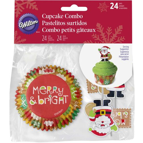 Wilton Santa Clause Cupcake Decorating Kit
