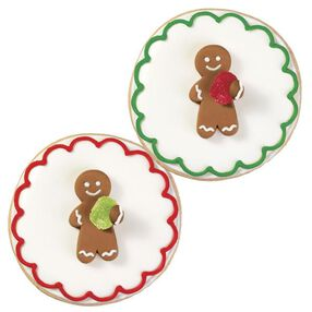 Gingerbread Man with Gumdrop Royal Icing Decorations