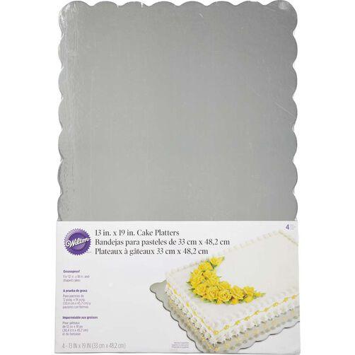 13x19 Silver Cake Platter