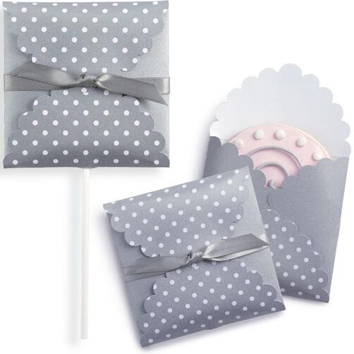 Silver Dots Cookie Envelope Kit