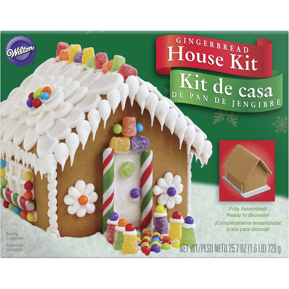 Pre Baked And Assembled Gingerbread House Decorating Kit Wilton