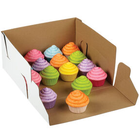 12 x 12 in. Corrugated Cake Boxes with Window