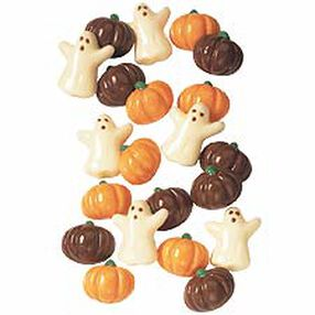 Mini Ghost & Pumpkin Candy Mold