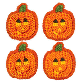 Smiling Pumpkin Icing Decorations