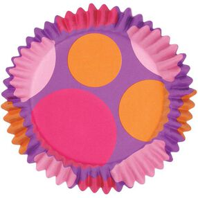 Pink/Purple/Orange Dots ColorCups Baking Cups