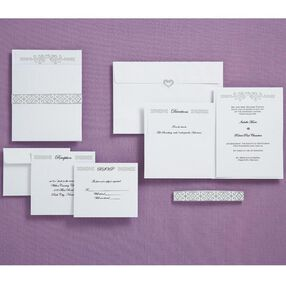 Heart Wedding Pocket Invitation