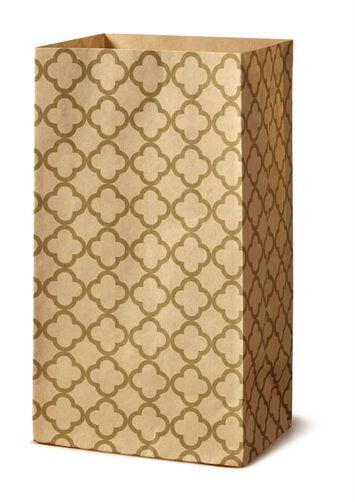Gold Quarterfoil Treat Bags, 8-Ct.