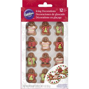 Christmas Gingerbread Men Icing Decorations