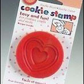 Double Heart Cookie Stamp
