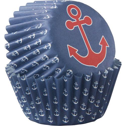 Nautical Theme Mini Cupcake Liners