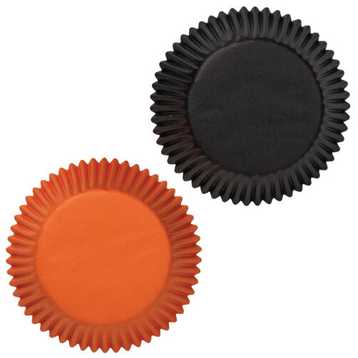 Black/Orange Assorted Baking Cups