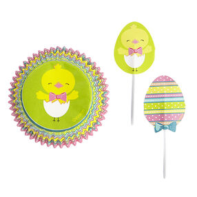 Wilton Easter Hop and Tweet 24-Count Cupcake Combo Baking Cups and Pick