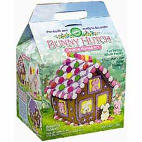 Pre-baked and Pre-Assembled Gingerbread Bunny Hutch Kit
