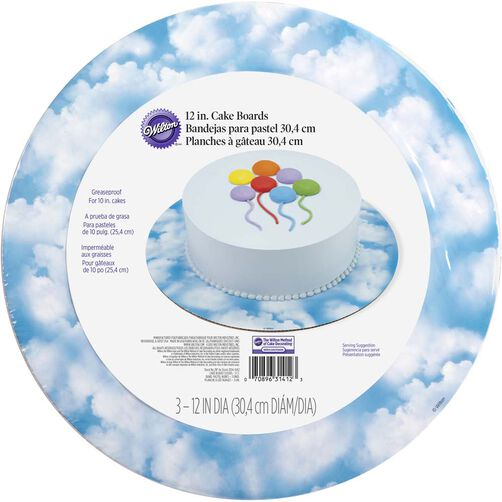 12 Inch Clouds Cake Board Set
