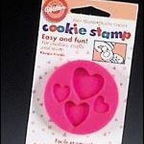 Four Hearts Cookie Stamps