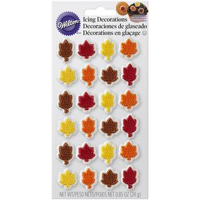 Fall Leaf Icing Decorations