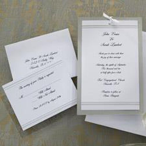 Simply Elegant Wedding Invitation Kit