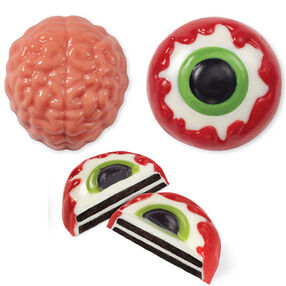 Brain and Eye Cookie Candy Mold