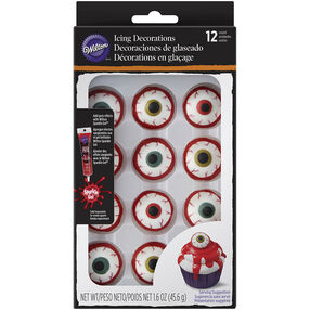 Halloween Eyeball Royal Icing Decorations