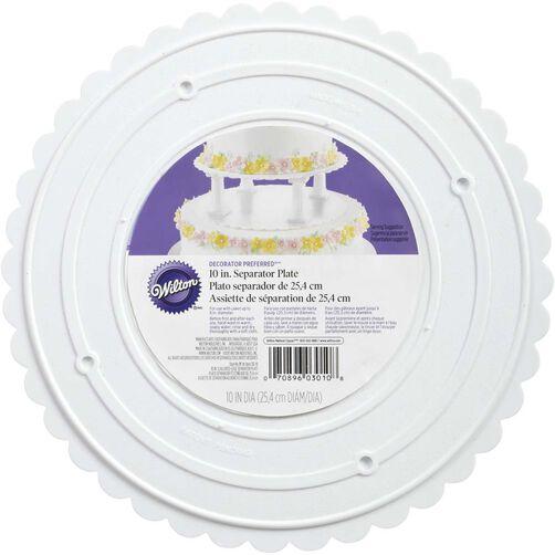 Decorator Preferred 10 Inch Scalloped Separator Plate