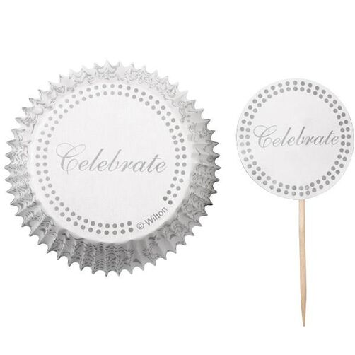 Silver Celebrate Cupcake Combo Pack
