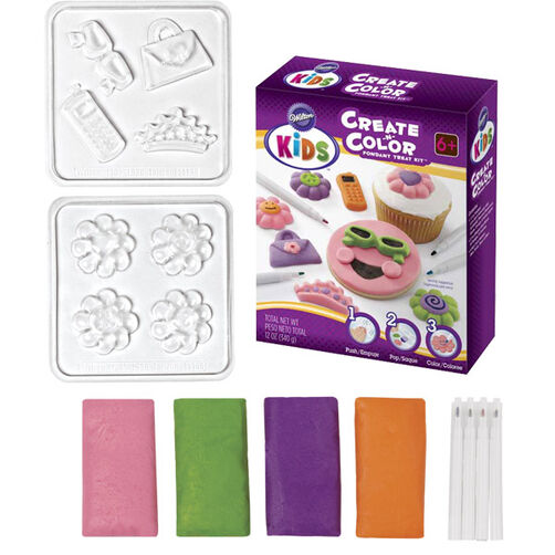 Create-n-Color Fondant Treat Kit - Bright