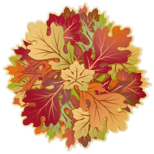 12 in. Autumn Leaves Doilies